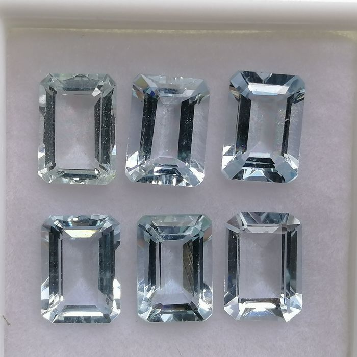 6 pcs  Aigue-marine - 5.26 ct