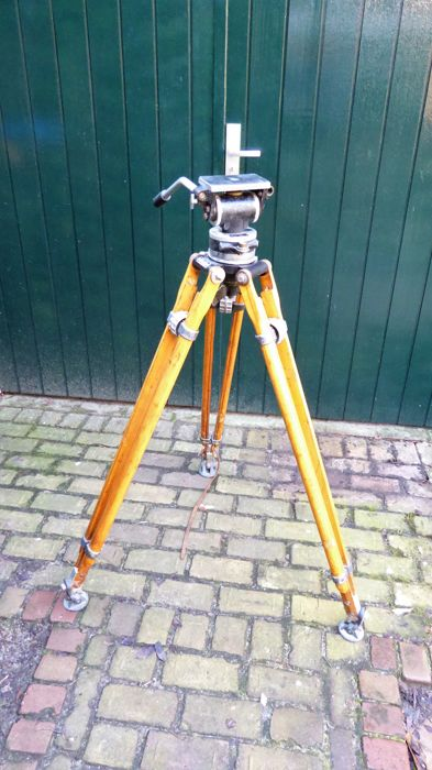 Miller Wooden Tripod + Fluid Head (for movie camera)