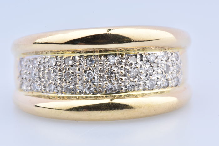 18 kt Gelbgold - Ring - 0.30 ct Diamant