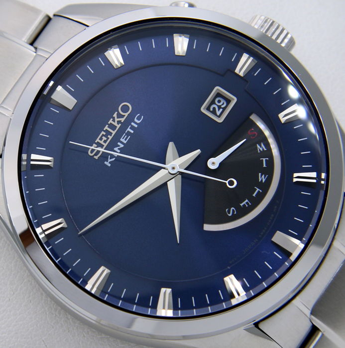 "Seiko - Kinetic Day/Date 100M ""Blue Dial"" - Men - 2018"