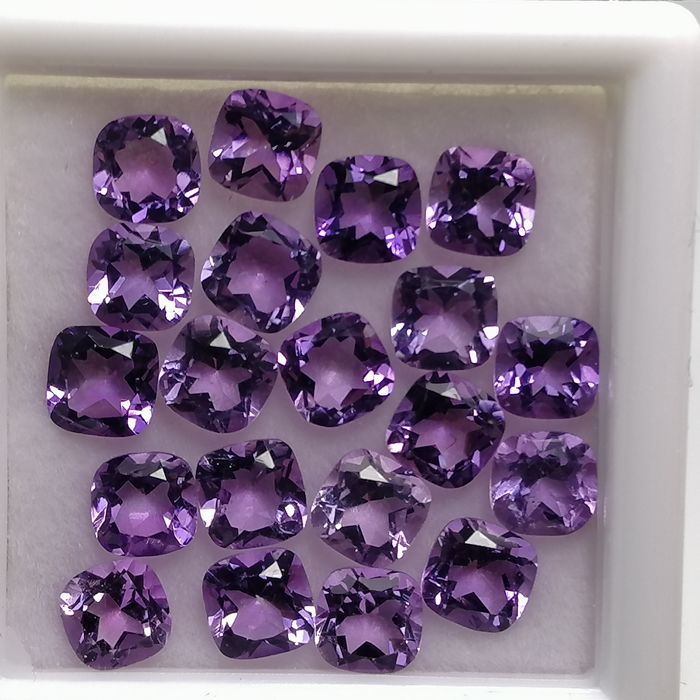 20 pcs  Ametista - 5.73 ct