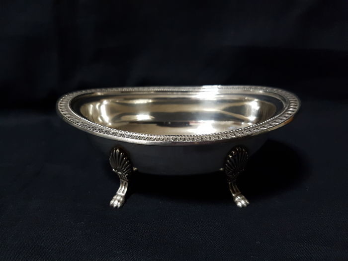 Empire style centerpiece bowl - .800 silver - Italy - 1900-1949