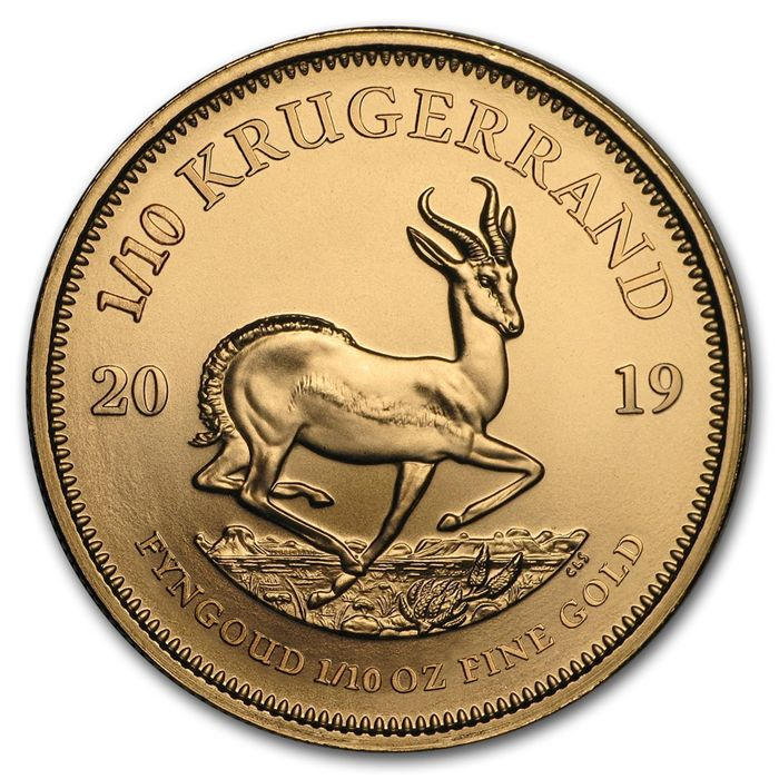 South Africa - 1/10 Krugerrand 2019 - 1/10 oz - Gold