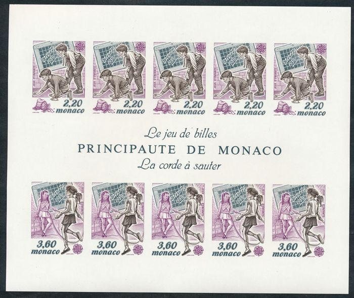 Μονακό 1989 - Europe CEPT mini-sheet, imperforate (cut) - Yvert No. 46a