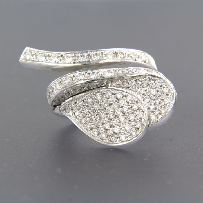 18 karaat Witgoud - Ring - 1.25 ct Diamant