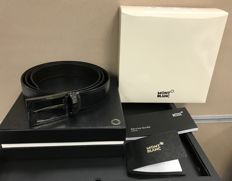 Montblanc - Black/brown Contemporary Reversible Leather Belt (Ref. 105080) Ceinture