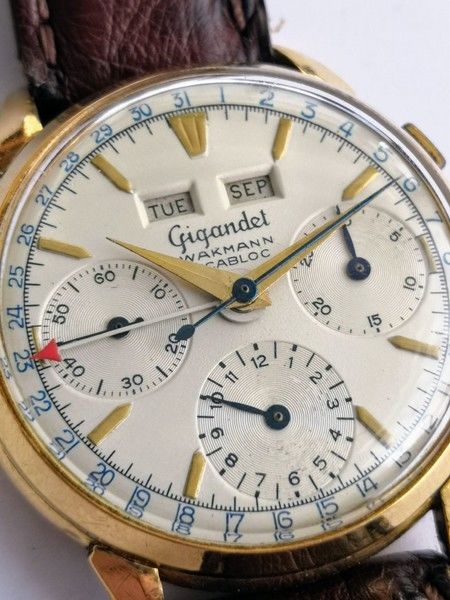 Gigandet - 18 kt Gold Datora triple calendar  - Men - 1950-1959