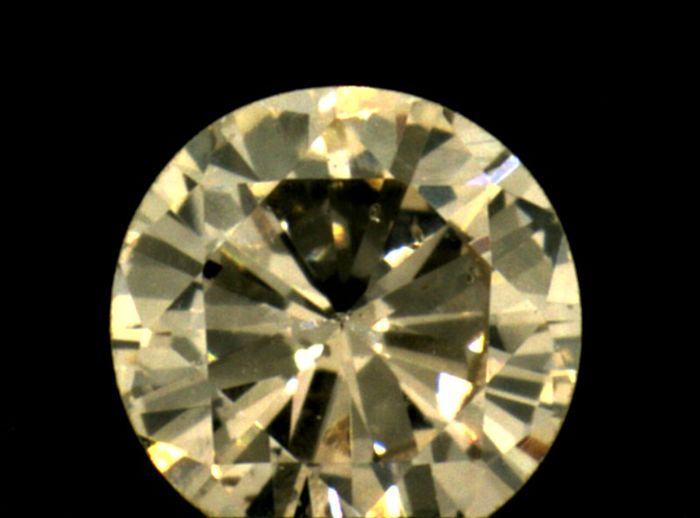 Diamond - 0.21 ct - Brilliant - light brown - IGI Antwerp - No Reseve Price, SI1