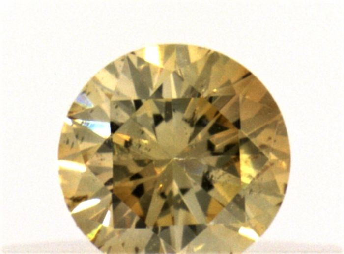 Diamond - 0.18 ct - Brilliant - fancy brown - IGI Antwerp - No Reseve Price, SI2