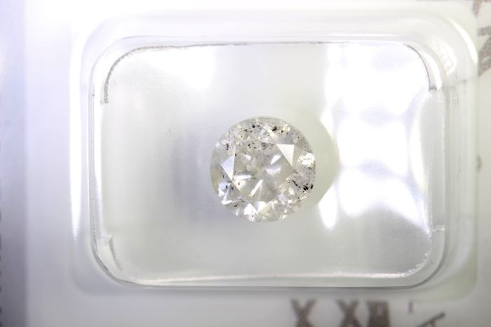 Diamant - 1.58 ct - Briljant - J - P2 - NO RESERVE PRICE
