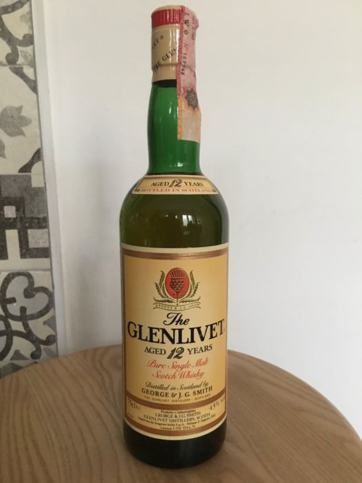 Glenlivet 12 years old - b. 1980s - 0.7 Ltr