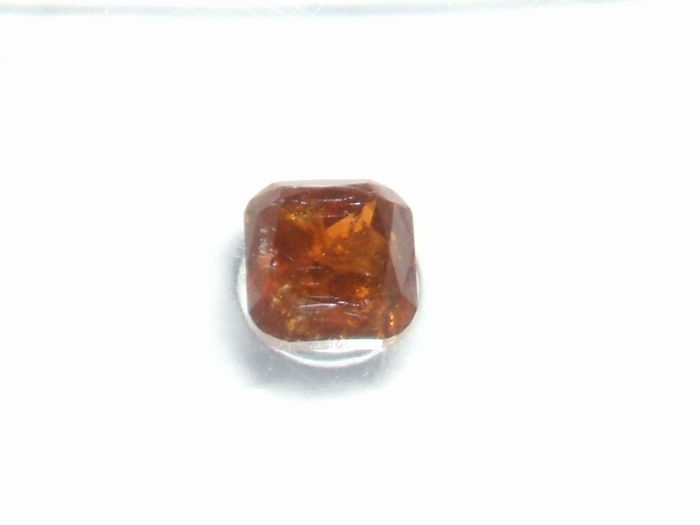1 pcs Diamante - 0.34 ct - Cojín - fancy deep orangy brown - I3 (piqué)