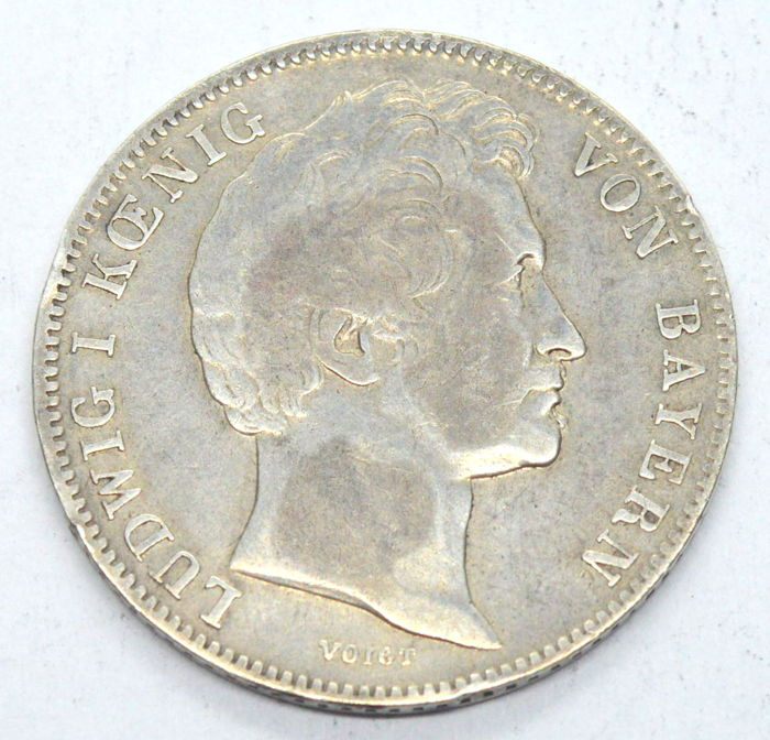 Germany - Bavaria - 1/2 Gulden 1839 Ludwig I - Ezüst