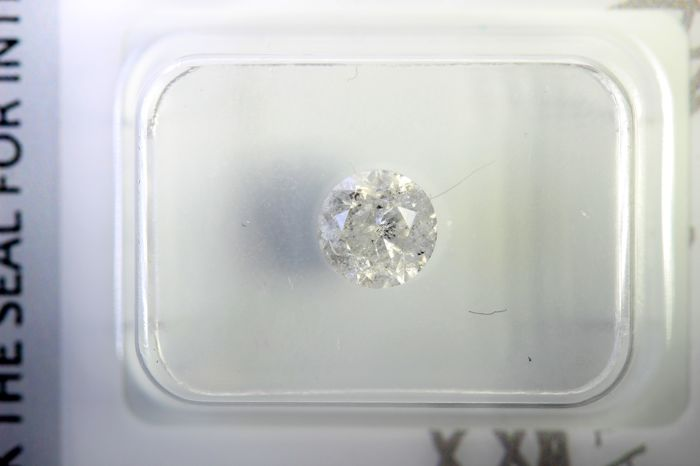 Diamant - 0.76 ct - Brillant - H - I3 (Piqué)
