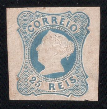 Portugal 1853 - Queen D.Maria II  25r Blue. die II, signed and with 2 certificates  - Mundifil 2