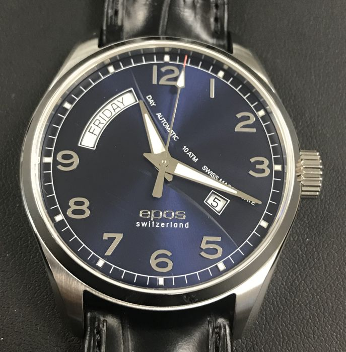 Epos - Passion 3402 Blue dial Day Date Automatic 43MM - 3402/F-D/D-BLU - Heren - 2011-heden