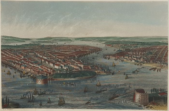 América do Norte, Nova York; GF Sargent & G Greafbach / W Mackenzie - New York. - 1860