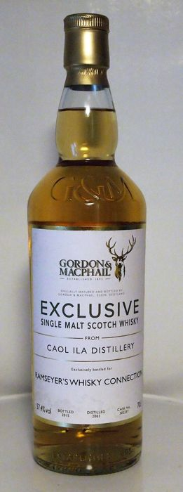 Caol Ila 2003 11 years old Exclusive for Ramseyer's Whisky Connection - Gordon & McPhail - b. 2015 - 0.7 Ltr