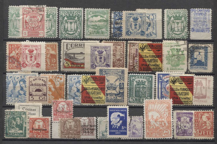 Spain - Local issues - Collection of charity stamps from the Civil War