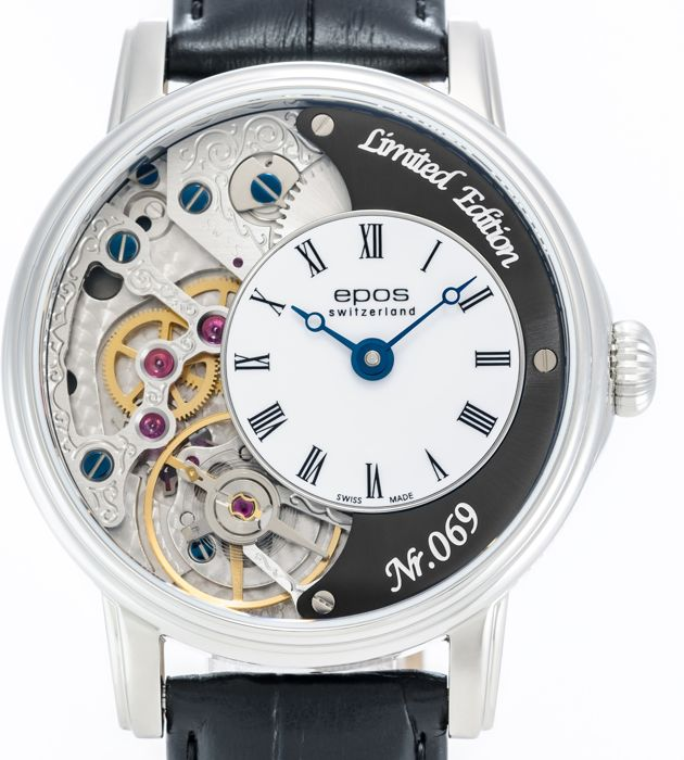 Epos - Limited Edition Skeleton with Pulsometer - 3435/F-BLK-V2 - Hombre - 2011 - actualidad