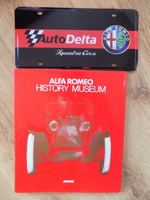 Book & Sign - Alfa Romeo History Museum Book & Metal Sign - 1979-2018 (2 items)