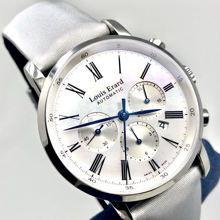 Louis Erard - Excellence Collection Automatic Chronograph White MOP - 84234AA04.BAV02 - Women - BRAND NEW
