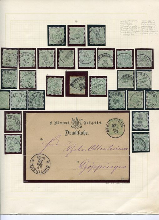 Württemberg 1875/1925 - Old and very extensive collection - pfennigs