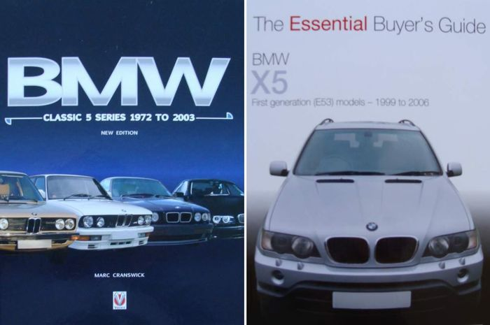 2 Books : BMW Classic 5 Series  &   - BMW X5 - E53 Models 1999 to 2006 - The Essential Buyer's Guide - 1972-2006