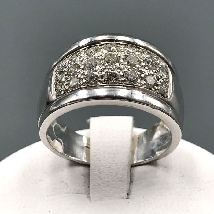 18 kt. White gold - Ring Diamond