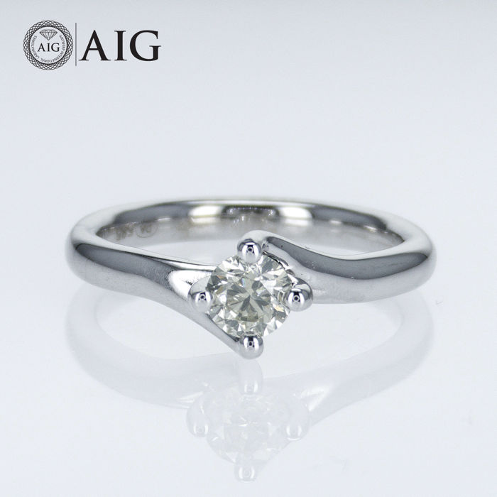 14 kt. White gold - Ring - 0.50 ct Diamond - No Reserve Price