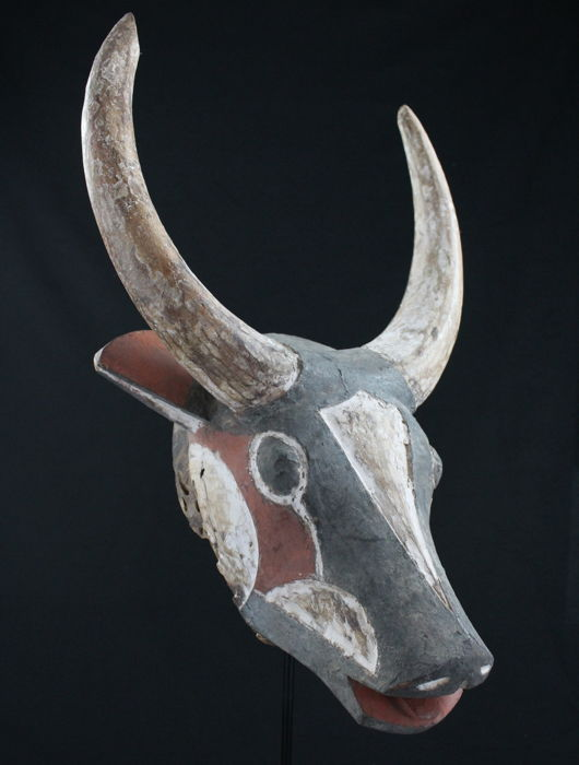 Buffalo mask - Wood - Gurunsi - Burkina Faso