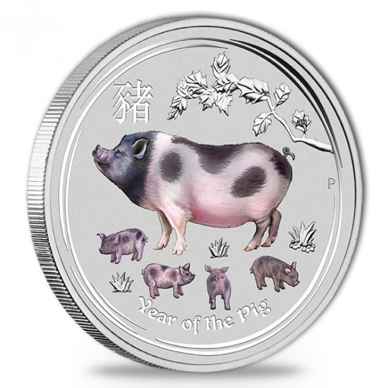 Australië - 1 Dollar 2019 'Year of the Pig' - 1 Oz - Zilver