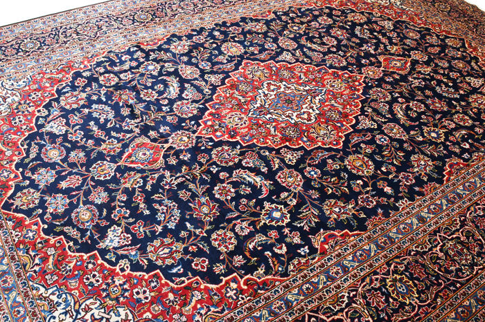 Keshan - Signed carpet - 409 cm - 291 cm