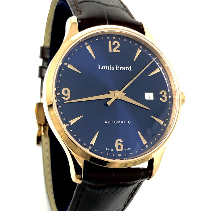 "Louis Erard - 1931 Automatic Rose Gold with Blue Dial ""NO RESERVE PRICE"" - 69219PR15.BRC80 - Heren - BRAND NEW"