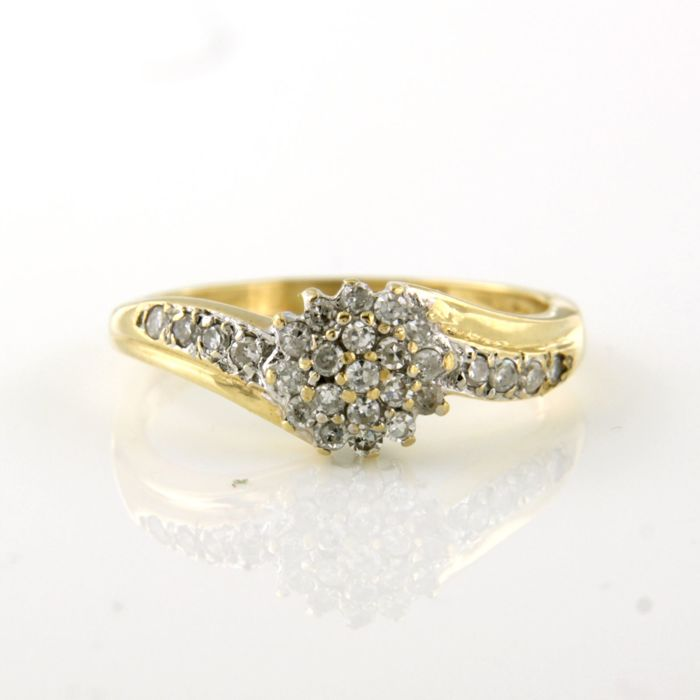 18 kt. Yellow gold - Ring - 0.27 ct Diamond