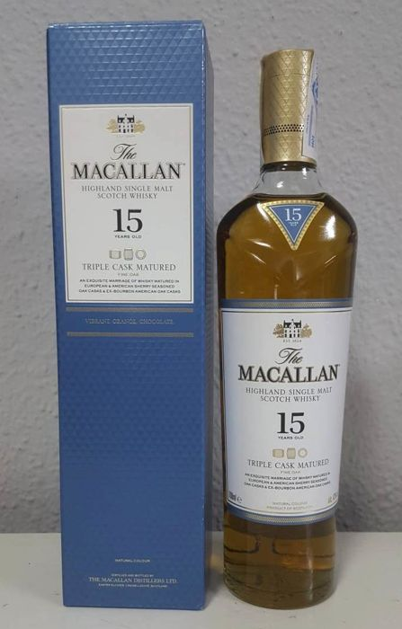 Macallan 15 years old Triple Cask Matured - Original bottling - 700ml