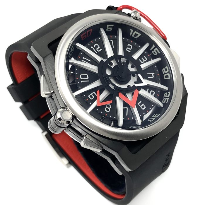 "Mazzucato - RIM Reversible Watch Black & Red ""NO RESERVE PRICE"" - 01-BK186 - Men - brand new"