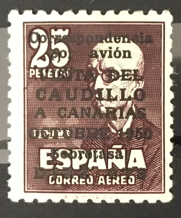 Spanje 1950 - 'Visita del Caudillo a Canarias' (Visit of Franco to the Canary Islands). Without control number. - Edifil 1083