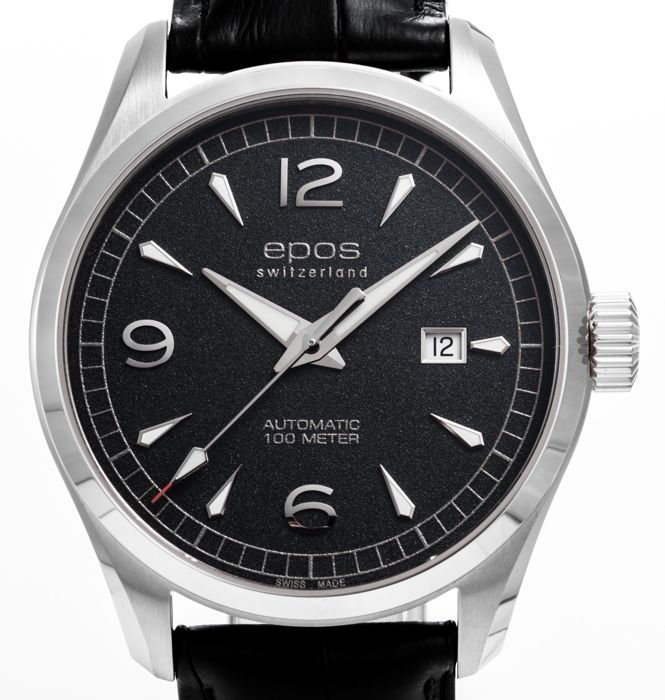 Epos - Men's black dial Automatic - 3401/F-BLK-ARAB - Men - 2011-present