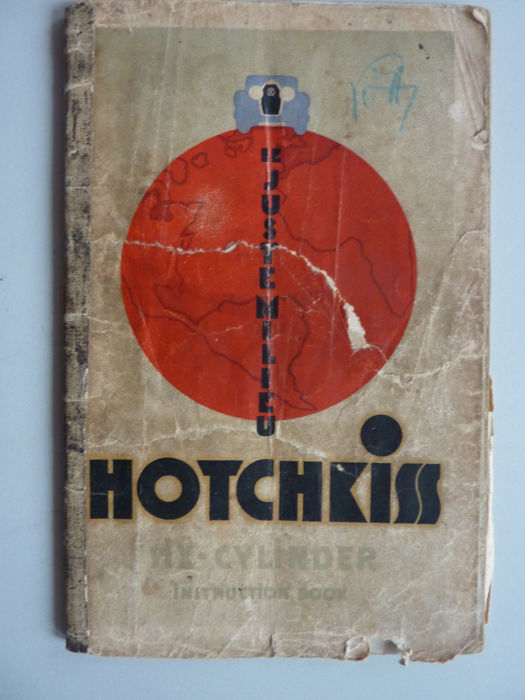 Brochures / catalogues - Hotchkiss Three litre Six Cilinder AM 80 Instruction Book - 1930 (1 items)