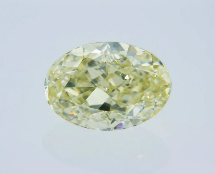 1 pcs Diamant - 2.02 ct - Oval - fancy yellow - VVS1
