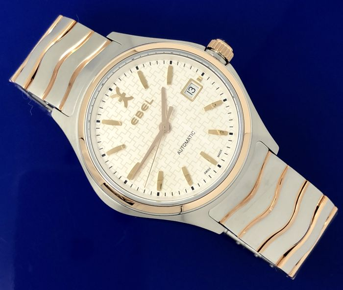Ebel - Wave Automatic 18kt Rose Gold 2 Tone - 1216274 - Men - BRAND NEW