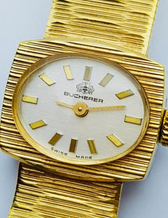 Bucherer - Beautiflul Ladies Gold P. Wristwatch  - Femme - 1970-1979