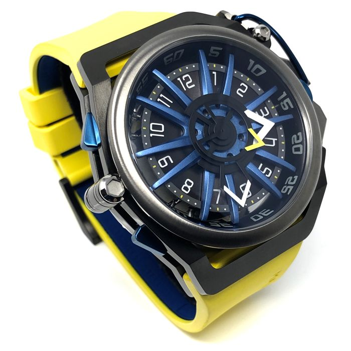 "Mazzucato - RIM Reversible Watch Yellow ""NO RESERVE PRICE"" - 06-YL654 - Men - brand new"
