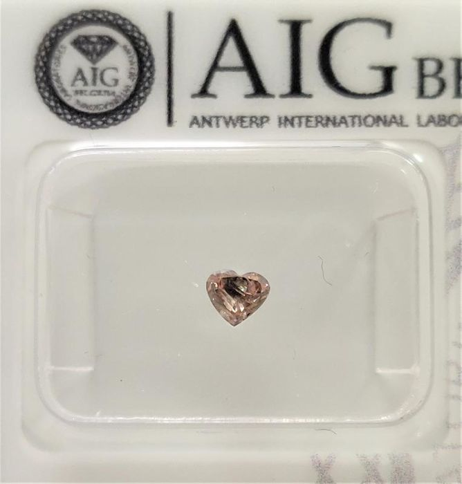 1 pcs Diamant - 0.17 ct - Hart - P2