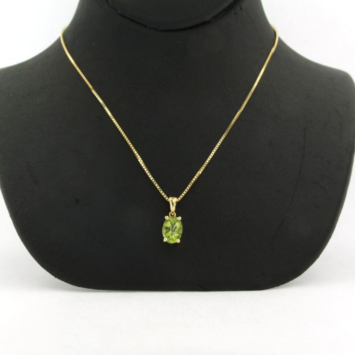 14k, 18k Yellow gold - Necklace with pendant - 0.80 ct Citrine