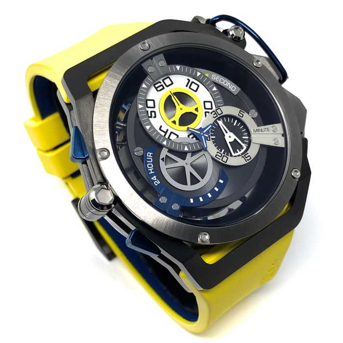 Mazzucato - RIM Reversible Automatic and  Chronograph Yellow GT 06-YL654 - 06-YL654 - Heren - brand new