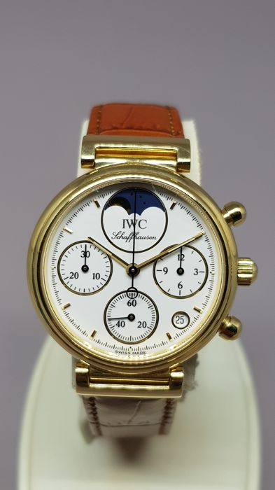 IWC - Da Vinci 18k Yellow Gold Moonphase Chronograph 29mm - IW3736 - Senhora - 1990-1999