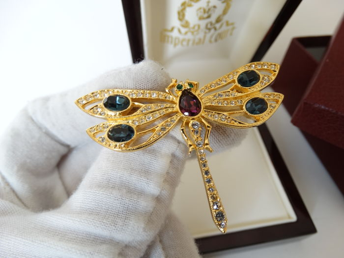 "Luxury Edition ""Imperial Court"" Faberge Collection Verguld - Broche"