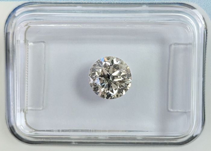 Diamond - 1.01 ct - Brilliant - H - I2, IGI Antwerp - No Reseve Price